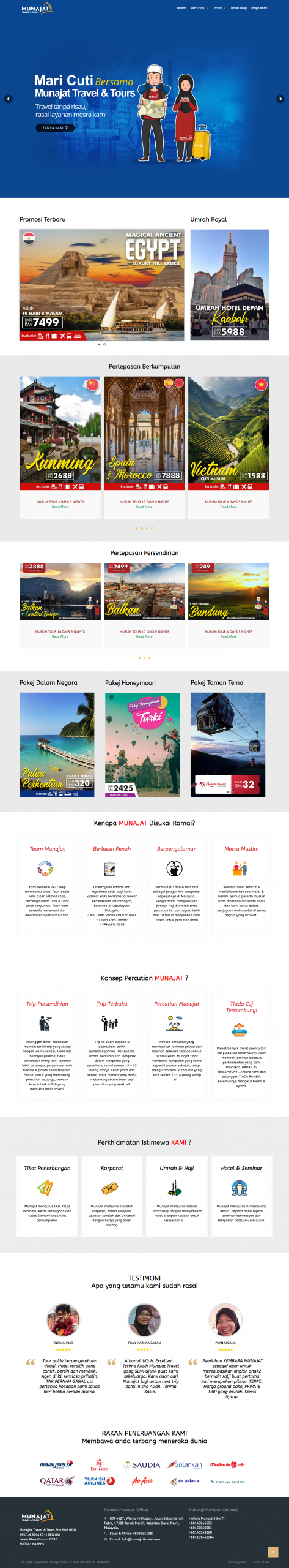 Laman Web Munajat Travel
